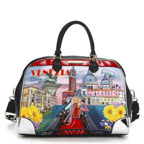 HONEYMOON IN VENEZIA NYLON BEADED DUFFEL BAG