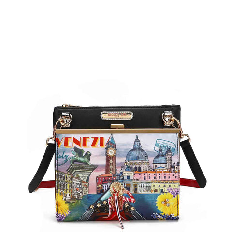 HONEYMOON IN VENEZIA NYLON BEADED CROSSBODY BAG