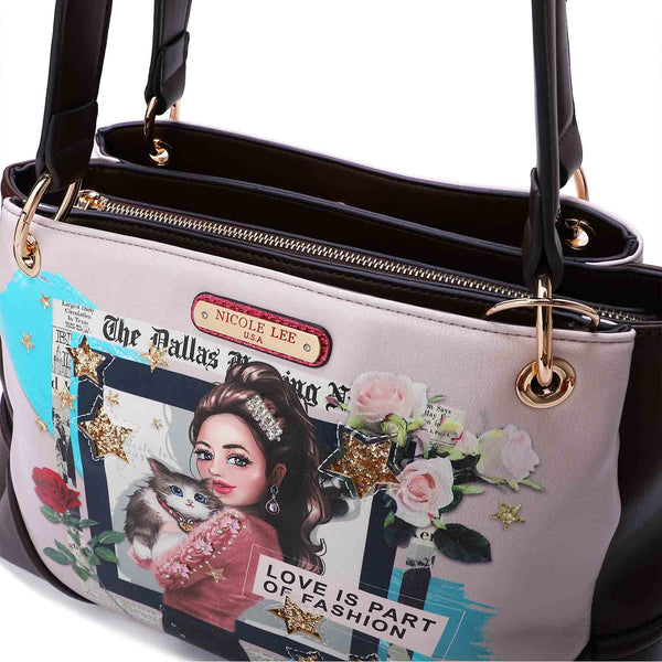 LOVE CAT PRINT SATCHEL