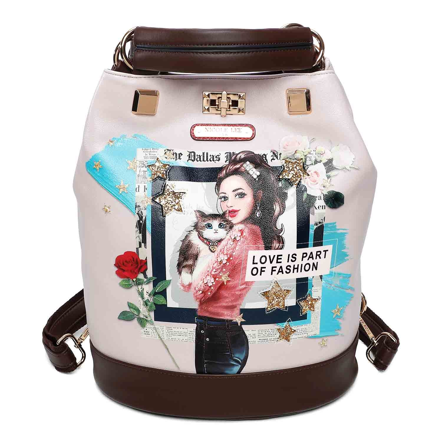 LOVE CAT PRINT BACKPACK