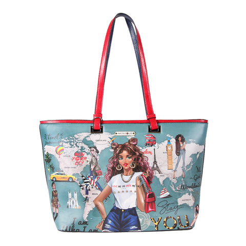 NICOLE GIRLS FASHION PRINT SHOPPER BAG