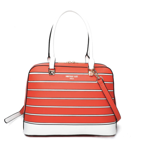 STRIPED SOLID BRIEFCASE