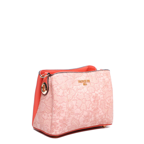 FLORAL TEXTURED CROSSBODY BAG