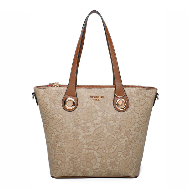 FLORAL TEXTURED SHOPPER BAG