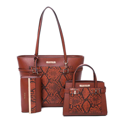 VEGAN LEATHER PYTHON 3 PIECE SET