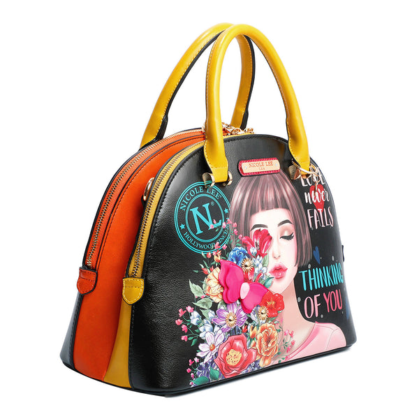 THINKING OF YOU FASHION PRINT DOME BAG