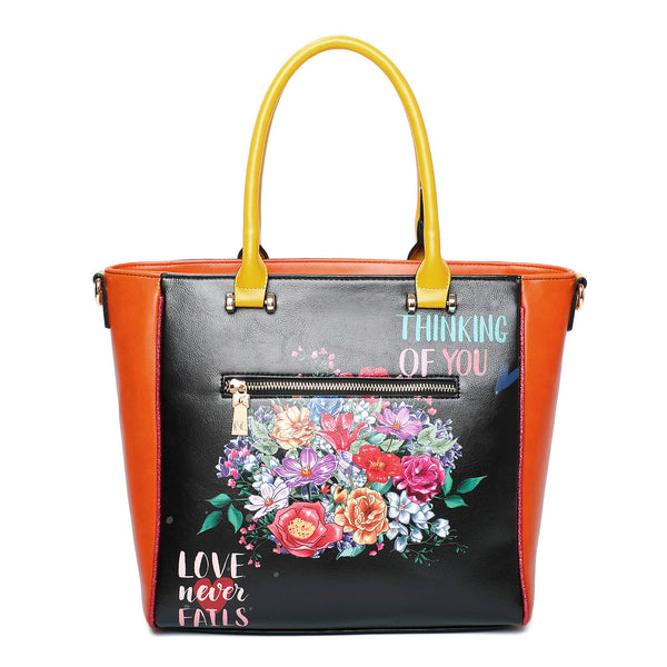 THINKING OF YOU FASHION PRINT SATCHEL BAG