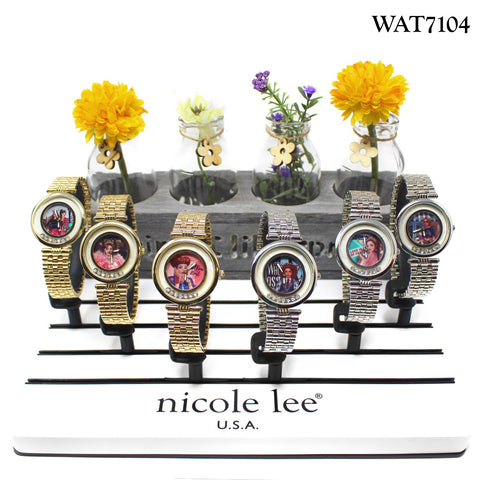 CIRCLE RHINESTONE PRNT WATCH