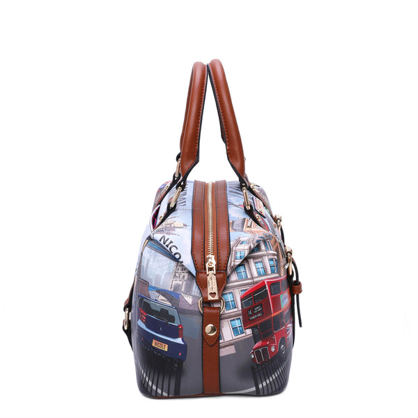 WOW IT'S LONDON PRINT BOSTON BAG