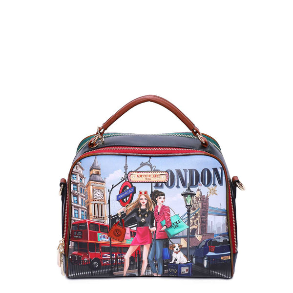 WOW IT'S LONDON PRINT MESSENGER BAG