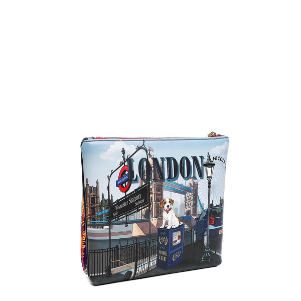 WOW IT'S LONDON PRINT CROSSBODY BAG