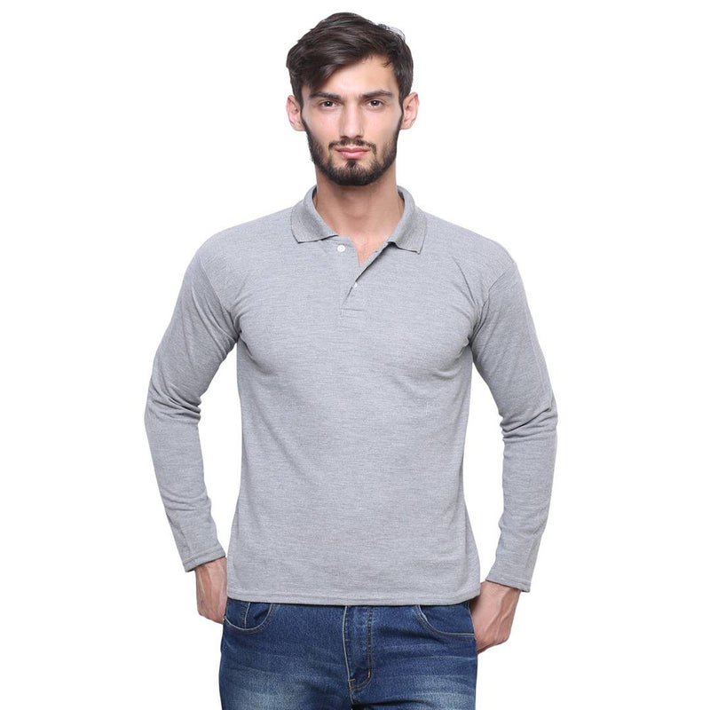 Grey Full Sleeve Tshirt For Men