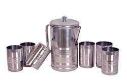 Stainless Steel Glass Set, 7-Pieces, Silver