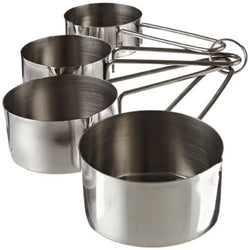 Stainless Steel Measuring Cup Set, Set of 4, Silver