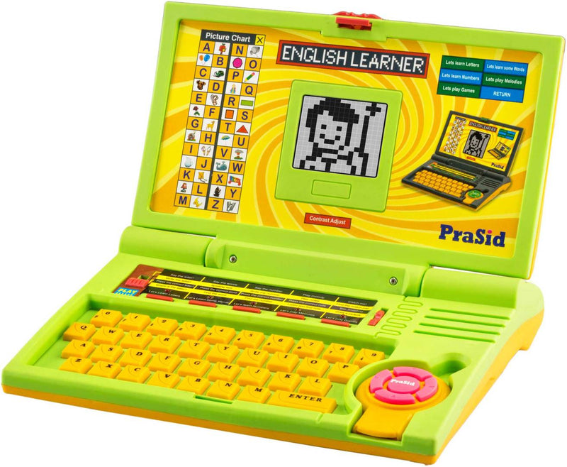 Yellow English Learner Kids Laptop 20 Activities GreenYellow
