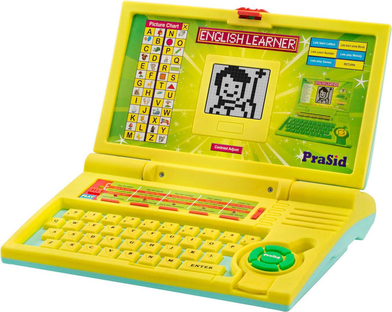 Yellow English Learner Kids Laptop 20 Activities LemonSky