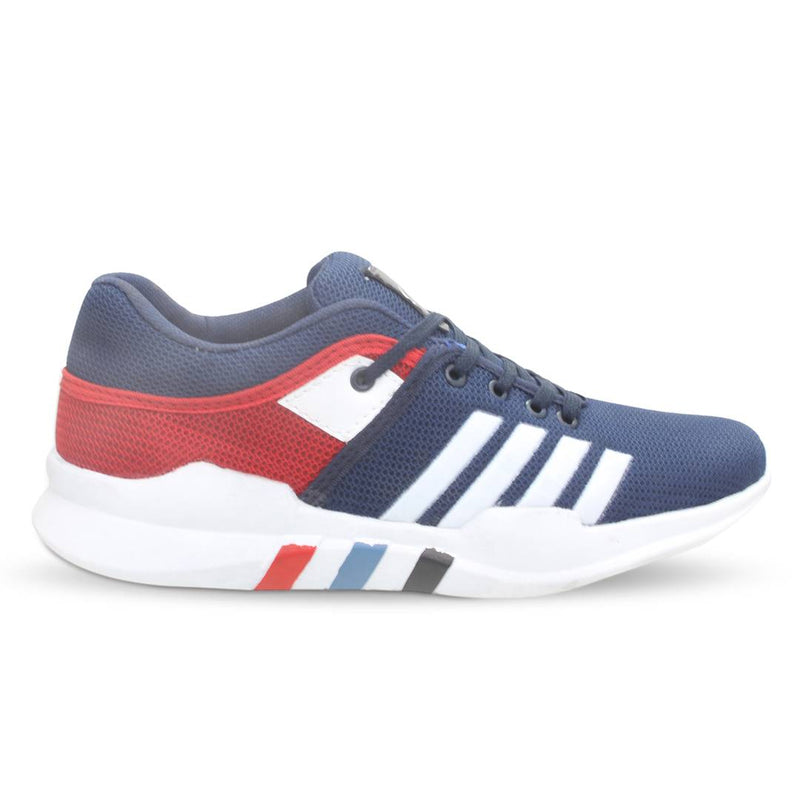 Men's Blue And Red Running Shoes