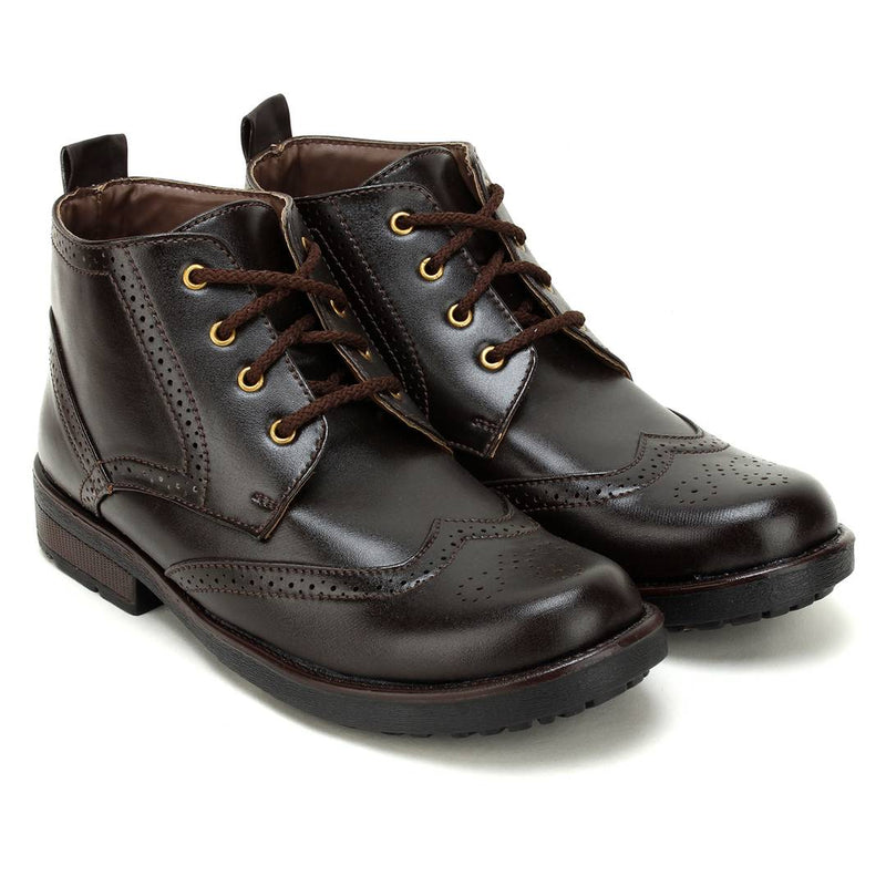 High Ankle Synthetic Leather Formal Boots For Men