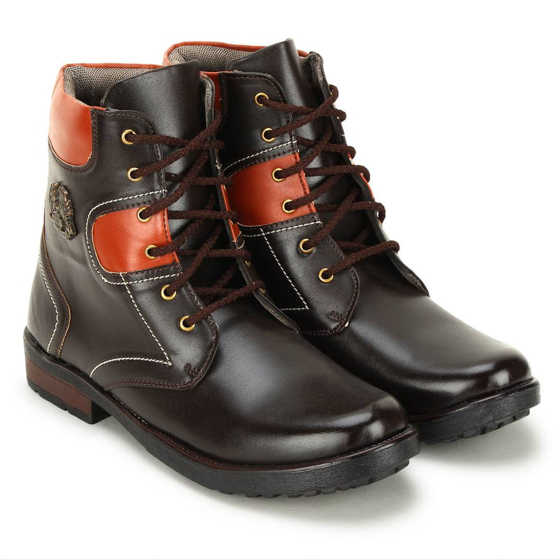 High Ankle Lace Up Casual Boots For Men