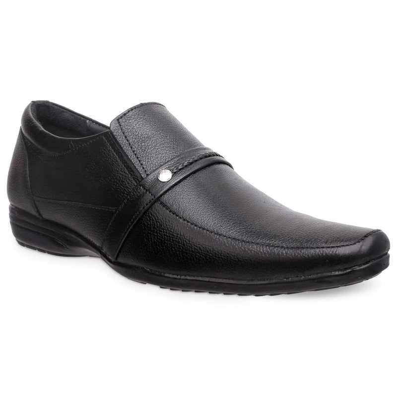Black Synthetic Formal Shoes For Men