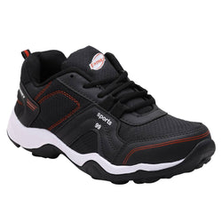 Black  Sports Running Shoes with  Lace Up design