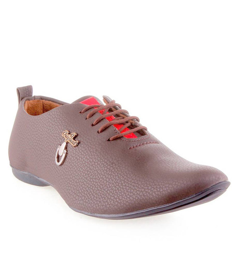 Beige Synthetic Leather Casual Shoe