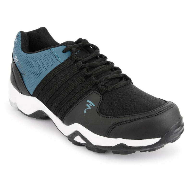 Sea Green-Black Mesh Sports Running Shoes