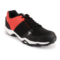 Red-Black Mesh Sports Running Shoes