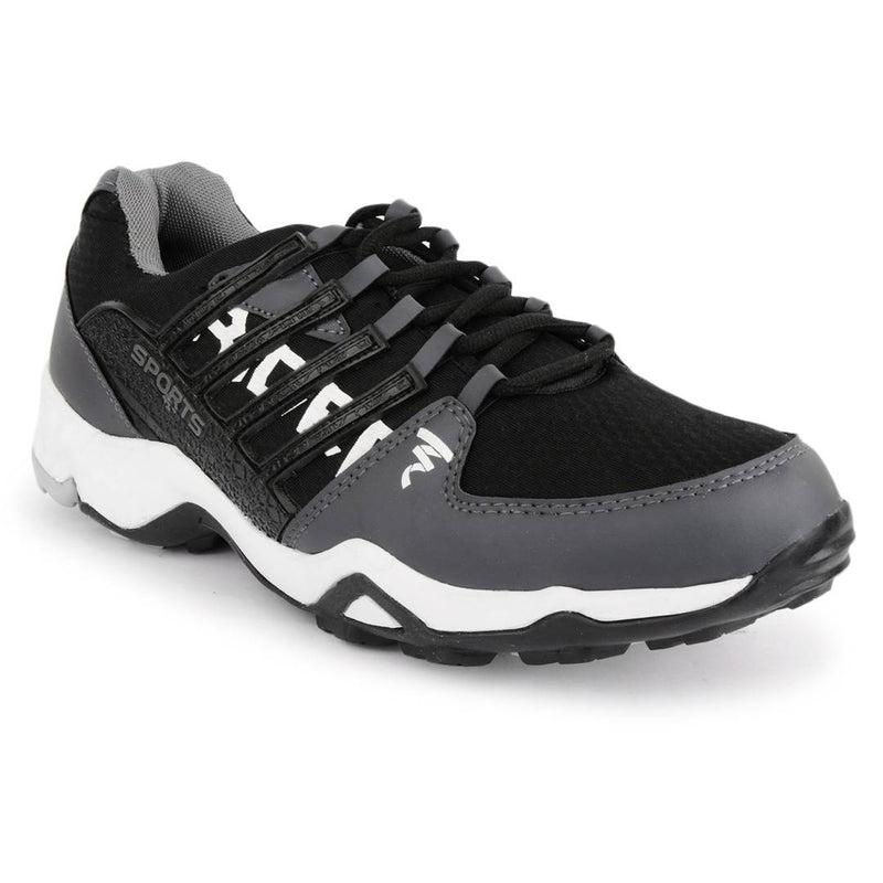 Rider Black-Grey Mesh Sports Running Shoes