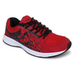 Active Red Printed Sports Running Shoes