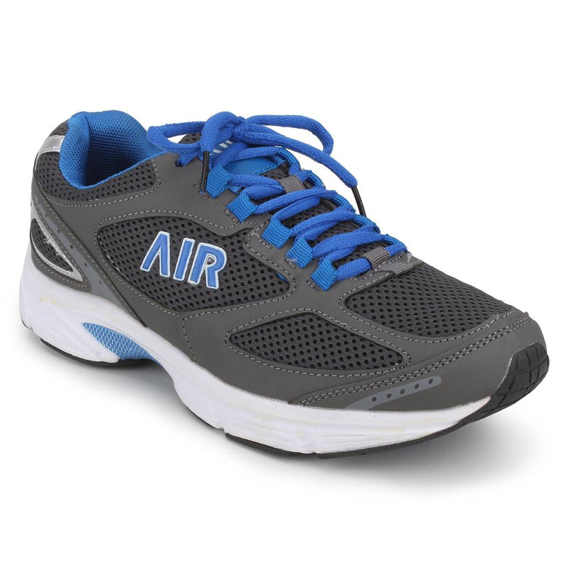 AIR Blue Self Design Mesh Running Shoes
