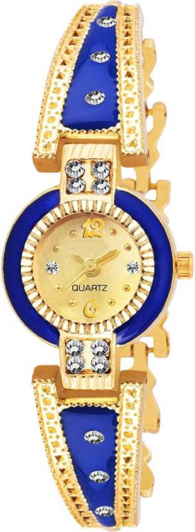 Golden Analog Metal Watch