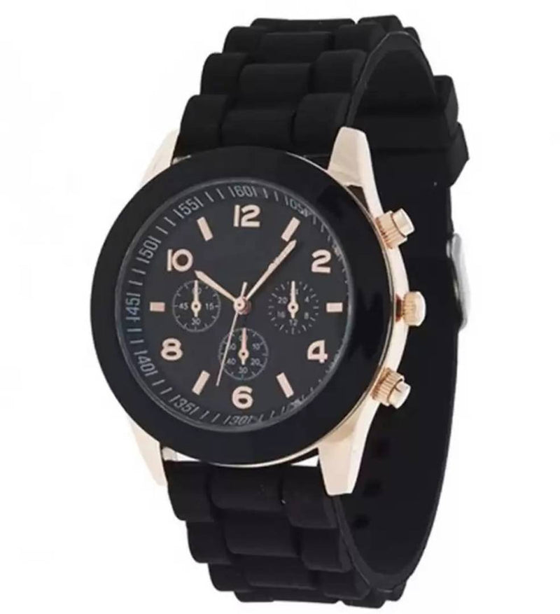 Platinum BLACK Dial WATCH FOR WOMEN Watch - For Women