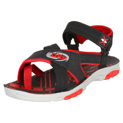 Men Red Canvas Comfort Sandals
