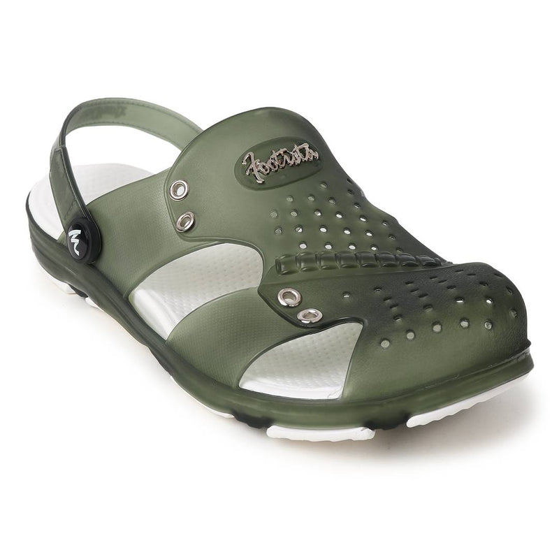 Trendy Green Croslite Clogs For Men