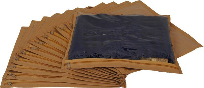 Designer Non-Woven Single Saree Cover or Garments Cover Combo Pack of 12 Pcs.