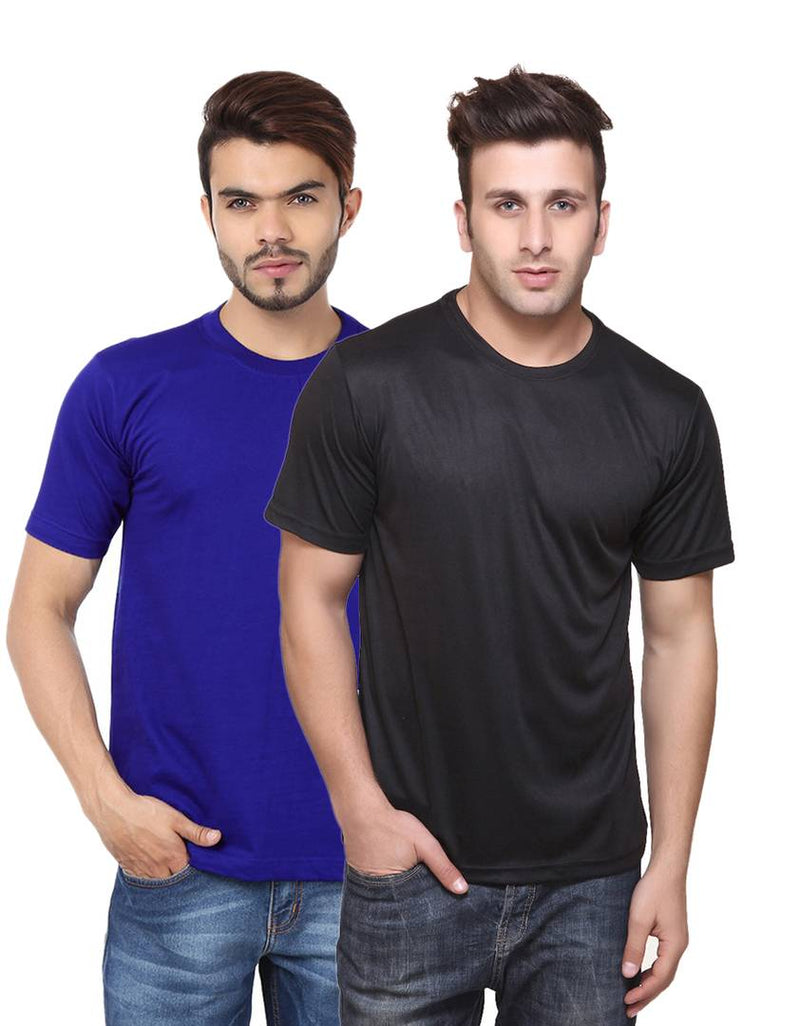 Multicoloured Round Neck Dri-Fit Tshirt.(Pack Of 2)
