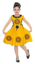 GIRLS HIT YELLOW COTTON FROCK
