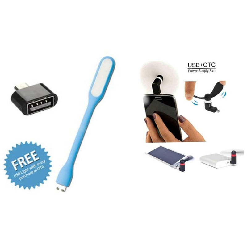 PORTABLE USB FAN , PORTABLE LIGHT AND OTG