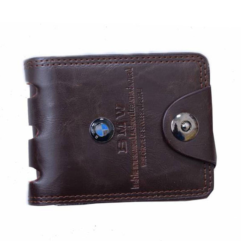 Brown Solid Artificial Leather Two Fold Wallet