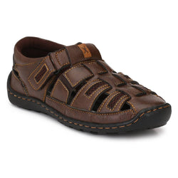 Men's Brown Synthetic Comfort Sandal