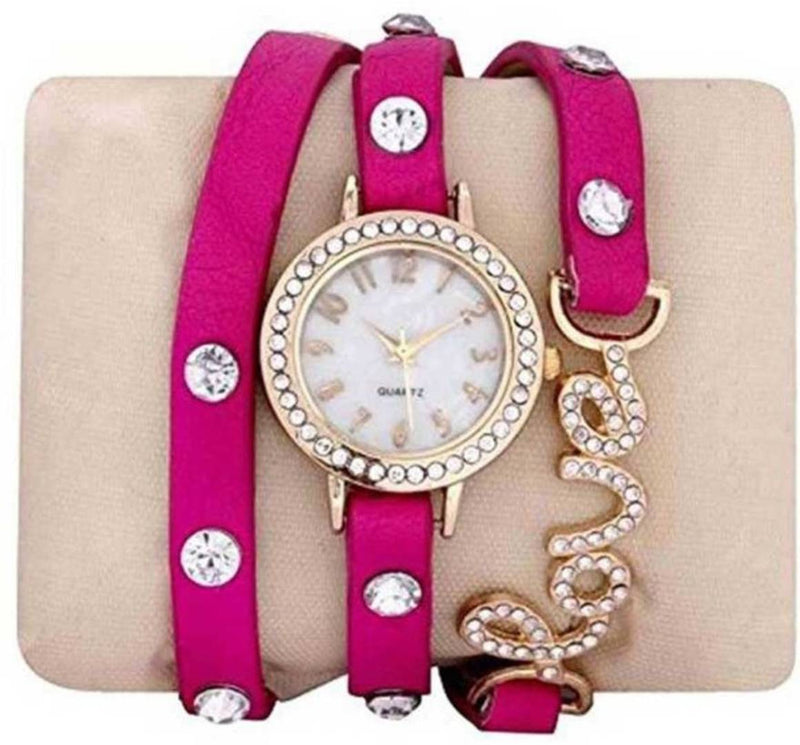 Love Synthetic Strap Watch For Women