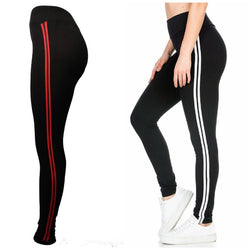 Combo Of 2 Cotton Spandex Side Striped Tight