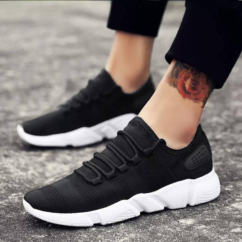 Black Mesh Casual Sports Shoes for Men's