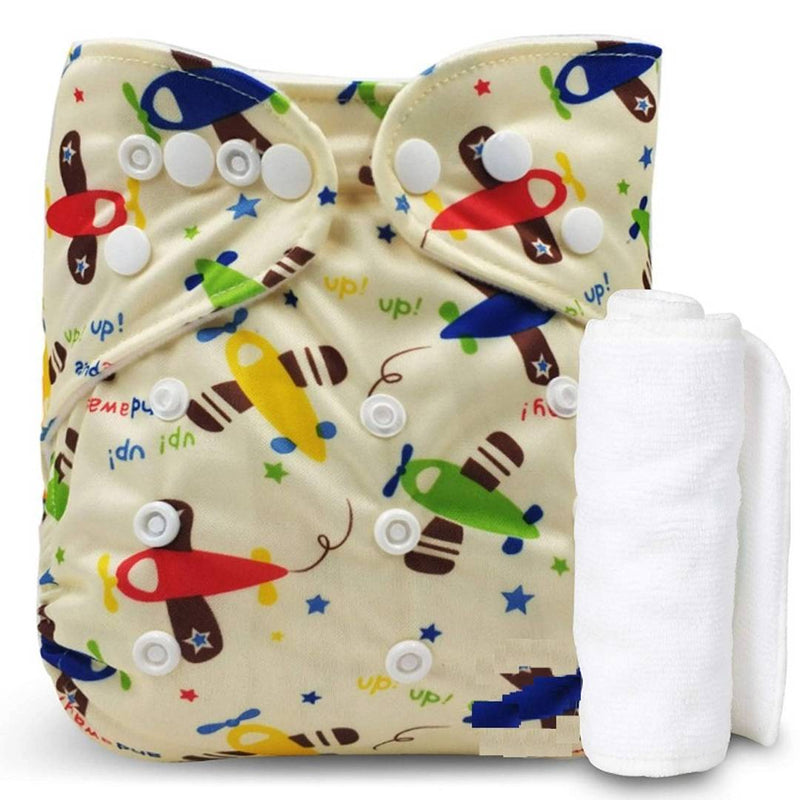 Triple B (Set of 1) Washable Baby Diaper Premium Cloth Diaper Reusable, Adjustable Size, Waterproof, Pocket Cloth Diaper Nappie
