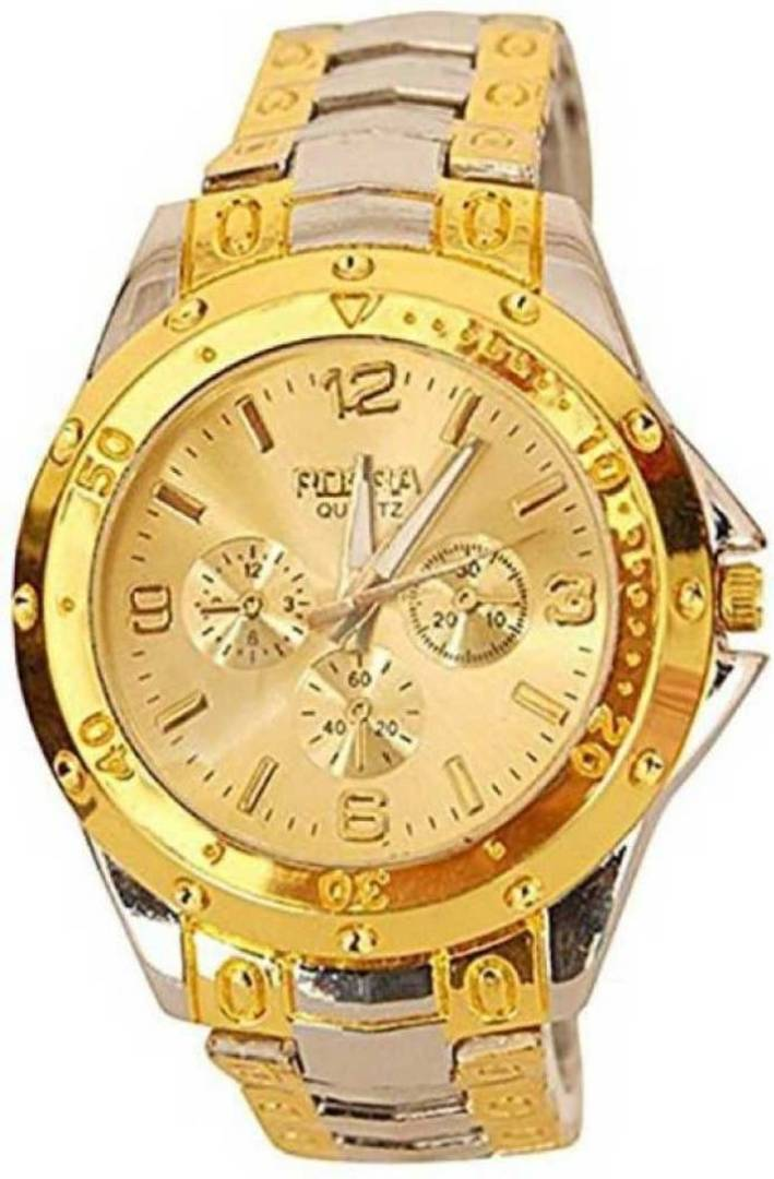 Golden Metal Watch For Men