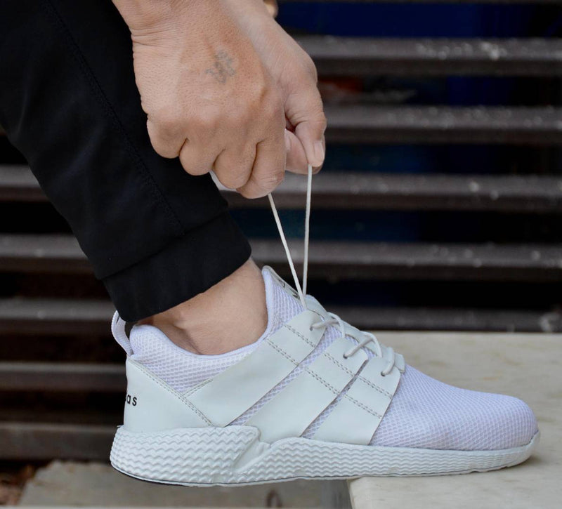 Men's Stylish White Canvas Sneaker Sports Shoes