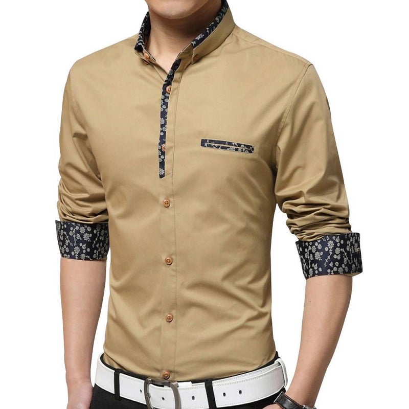 Men's Yellow Solid Cotton Regular Fit Casual Shirt