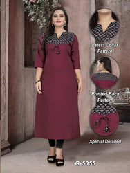 Digital Printed Cotton Kurtis for Women's