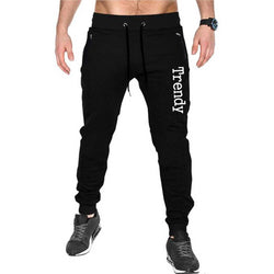 Men's Black Cotton Printed Regular Track Pants